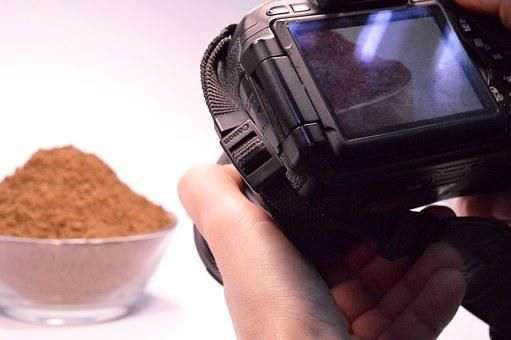Photoshoot, Camera, Sand, Plate, Photographer