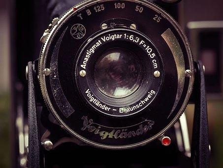 Photo Camera, Camera, Voigtlander, Photograph, Old