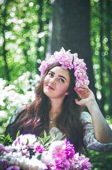 Girl, Flowers, Spring, Flower, Fine, Beauty, Portrait