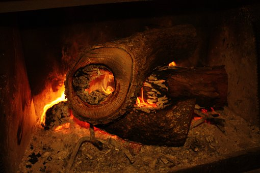 Fire, Hearth, Log, Fireplace, Cozy, Indoor, Warmth