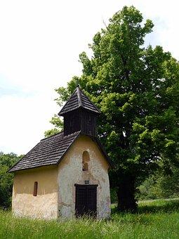 Chapel, Tree, Grass, Slovakia, Tribeca