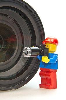 Photographer, Males, Lego, Lens, Photo, Photo Studio