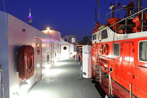 Fireboat, Düsseldorf, Investors, Long Exposure, Port