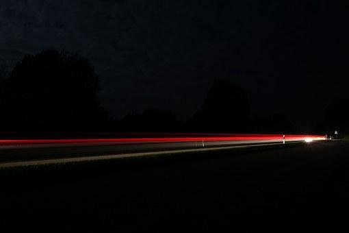 Road, Long Exposure, Lights, Red, Traffic, Night