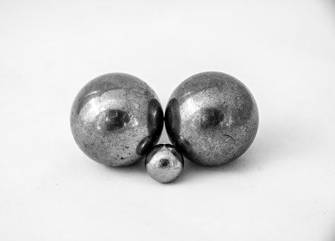 Metal, Balls, Bearings, Round, Silver, Steel