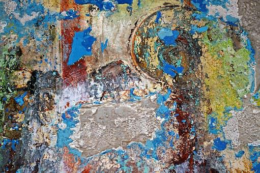 Church Painting, Painting, Painted Over, Mural, Texture