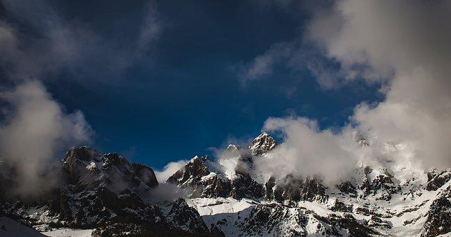Spain, Mountains, Snow, Winter, Panorama, Ravine, Gorge