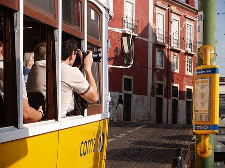 Streetcar, Photograph, Tourist, Photo, Lisbon