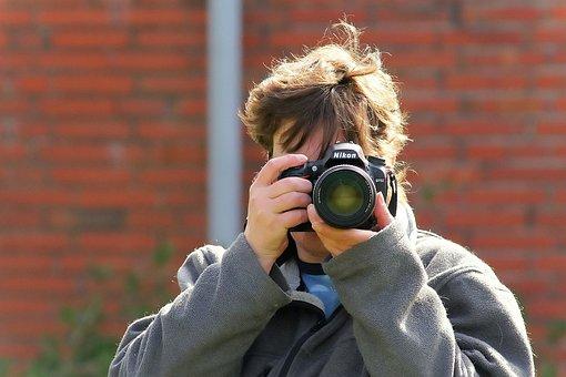 Woman, Photographer, Person, Photograph, Camera, Lens