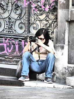 Photographer, Woman, Photograph, Motif, Motif Search