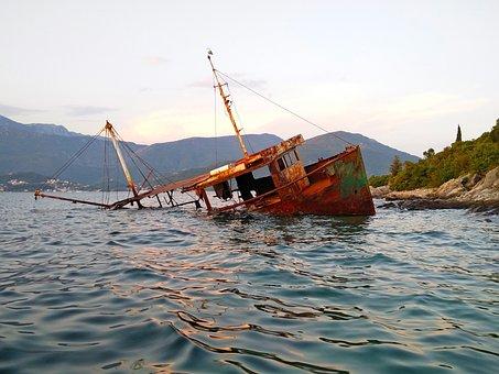 Boat Wreck, Rust, Wreck, Boka, Adriatic, Herceg Novi