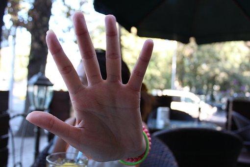 Stop, No Photo, No Photographing, Hand, Sign, Symbol