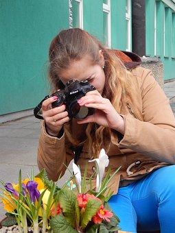 Photographer, Girl, Tereza, Spring