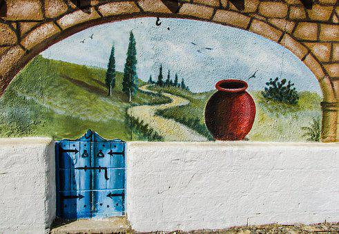 Wall Painting, Graffiti, Traditional, Motif, Ethnic