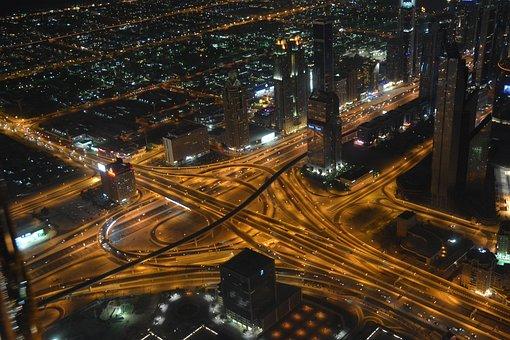 Dubai, Traffic, Uae, Vehicles, Skyscraper, U A E, Autos
