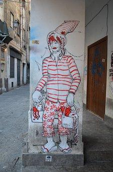 Graffiti, Sicily, Youth, Art, Wall, Graffitti, Mural