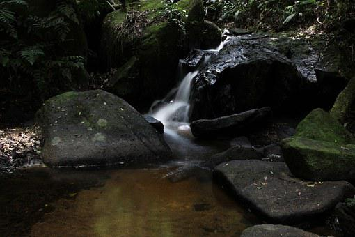Water Falling In Slow, Slow Motion