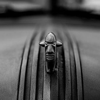 Black, White, Car Badge, Emblem, Art, Background