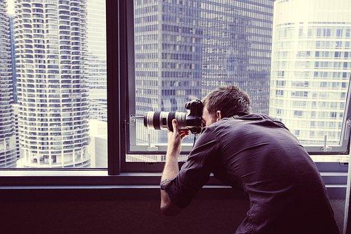 Photographer, Photography, Window, Shooting