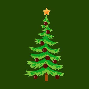Tree, Star, Ornaments, Christmas, Decoration, Holiday