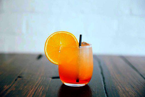 Cocktail, Drink, Glass, Orange, Citrus, Fruit, Juice