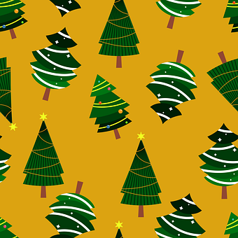 Tree, Christmas, Pattern, Seamless Pattern, Decoration