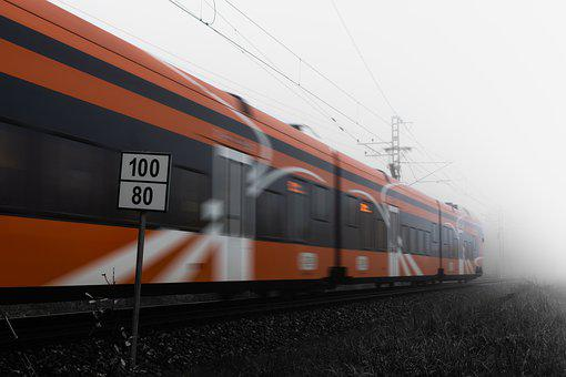 Train, Moving, Railway, Railroad, Railway System