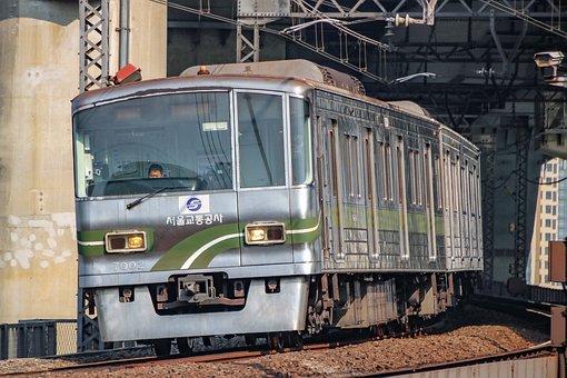 Seoul Subway, Line 7, Train, Railway, Transport