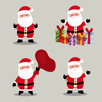 Santa Claus, Gift, Christmas, December, Decoration
