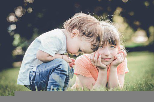 Children, Siblings, Meadow, Grass, Girl, Boy, Brother