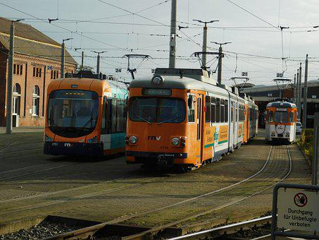 Tram, Low-floor Cars, Düwag, Six-axle