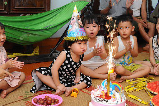 Children, Birthday, Cake, Girls, Boy, Kids, Young