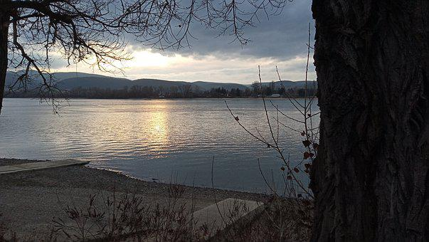 In Zebegény, Hungary, The Danube, Winter, Waterfront