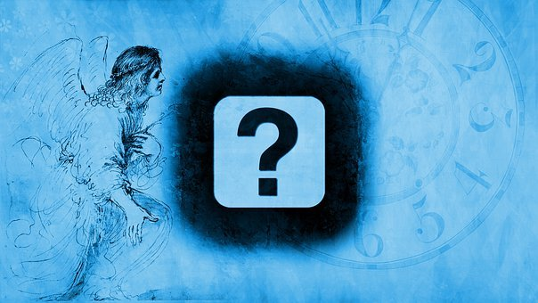 Clock, Angel, Question Mark, Time, Transience, Deadline