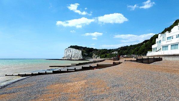 St Margaret's Bay, Beach, Cliffs, Coast, Sea, Chalk