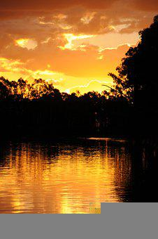 Sunset, Clouds, Nature, Sky, Landscape, Dusk, Evening