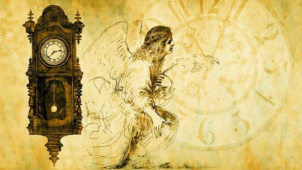 Angel, Time, Clock, Transience, Deadline, Minute, Hour