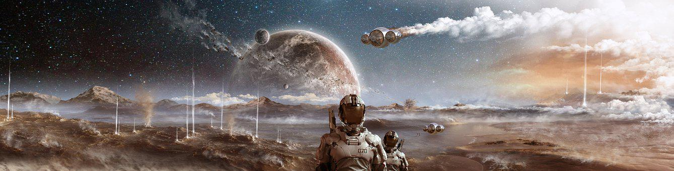 Space, Another World, Planets, Flight, Astronaut