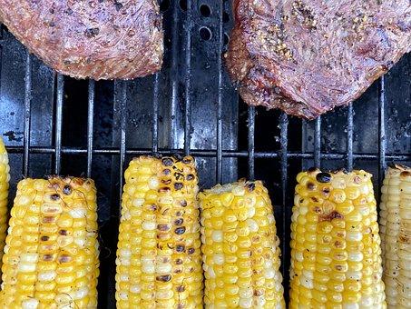 Grill, Steak, Meat, Food, Dinner, Grilling, Corn, Bbq