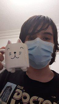 Cute, Mug, Covid19, Mask, Zoom Meeting, Coffee, Break