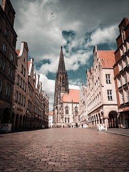 Münster, Church, City, Buildings, Landmark, Gothic