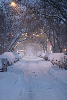 Snow, Street, Road, Cold, Snowfall, Blizzard, Snowy