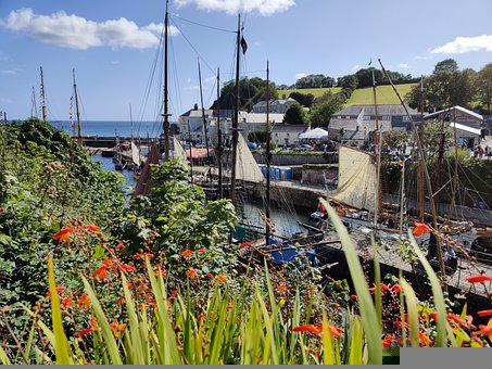 Charlestown Harbour, Tall Ships, Cornwall, Harbor