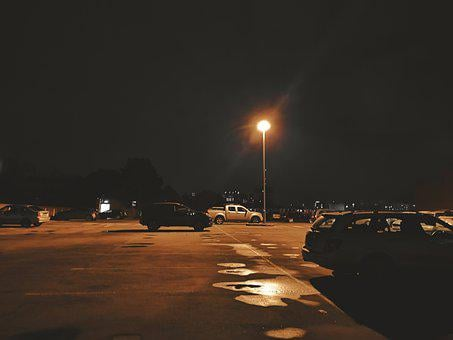 Roof, Rooftop, Car Park, Parking Lot, Night