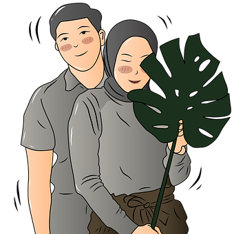 Islamic, Hijab, Couple, Family, Smile, Happy, Romance