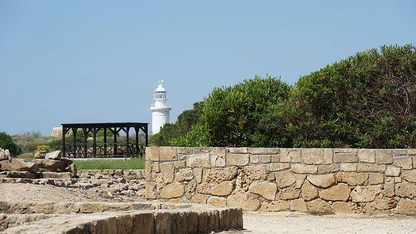 Cyprus, Paphos, Lighthouse, Stone, Archeology