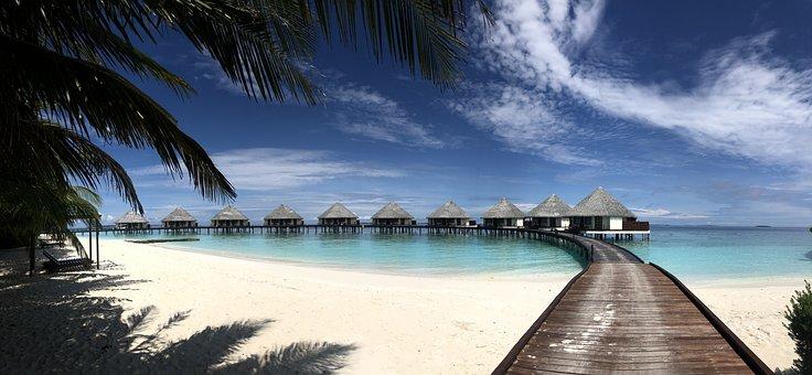 Watervilla, Maldives, Beach, Travel, Island, Tropical