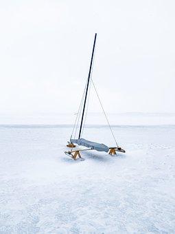 Ice Boat, Winter, Frozen, Snow, Boat, Sport