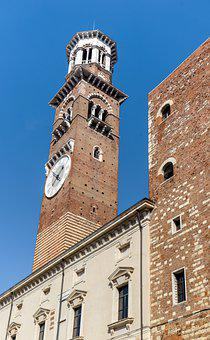 Verona, Tower, Travel, Italy, Architecture, Italian