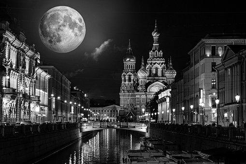 Architecture, Landmark, Castle, City, Night, Travel